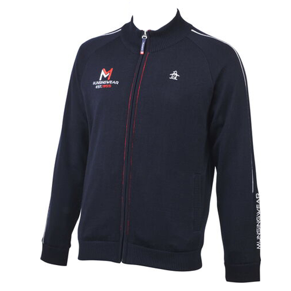 ゴルフセーター マンシングウェア ゴルフウエア ジップアップセーター ヒートナビニットブルゾン MGMOJL14 NV ネイビー 送料無料 Lサイズ