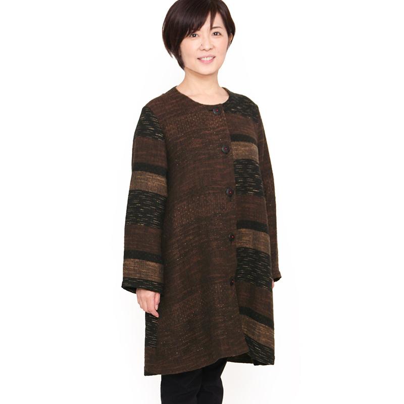 宮田織物 彩藍 風通(ふうつう)ジャケット レディース 女性 春 秋 日本製 長袖 綿100% 黒 茶 赤 フリー