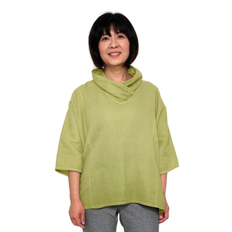五感 ダブルガーゼプルオーバー レディース 女性 春夏 日本製 綿100%