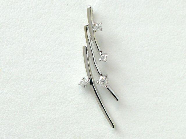 【新品仕上げ済み】K18WG ダイヤモンドペンダント/D0.20/1.5g【質屋出店】【送料無料】