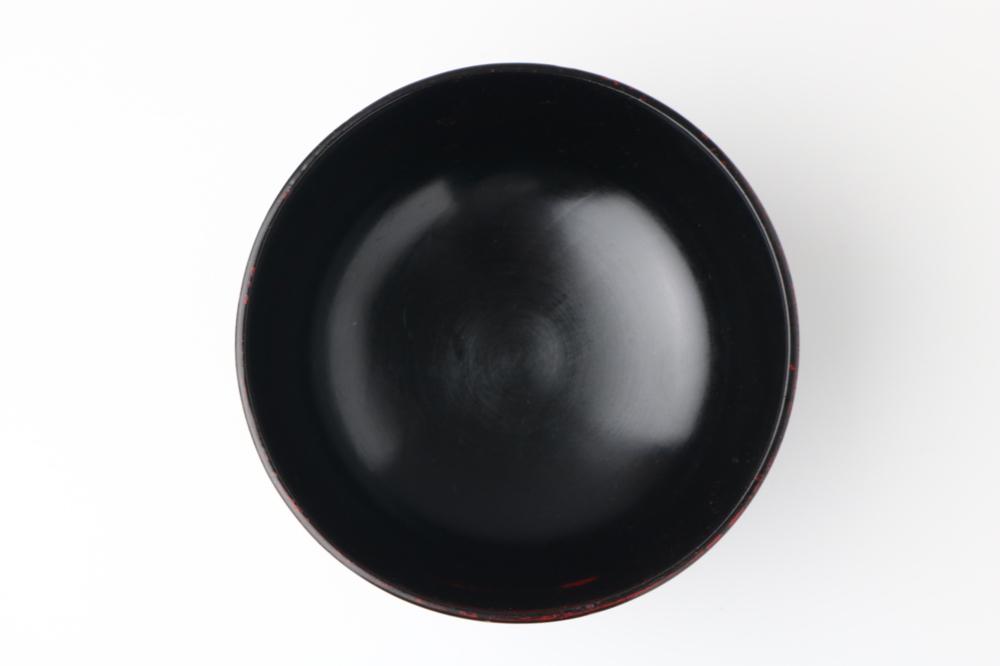 天然木製 大汁椀 曙ライン 漆塗り