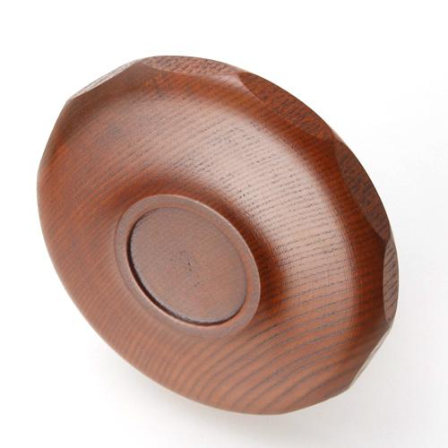 天然的木製茶托龜甲木紋漆器