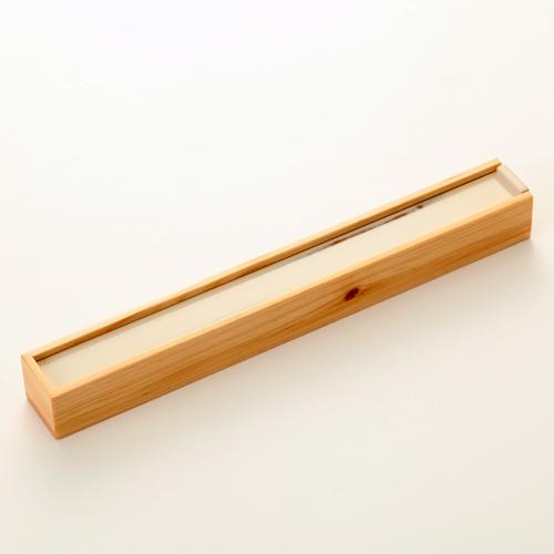 天然木製 紀州塗りNjeco汎 箸・箸箱セット(箸置き付) 変り根来塗り(白)