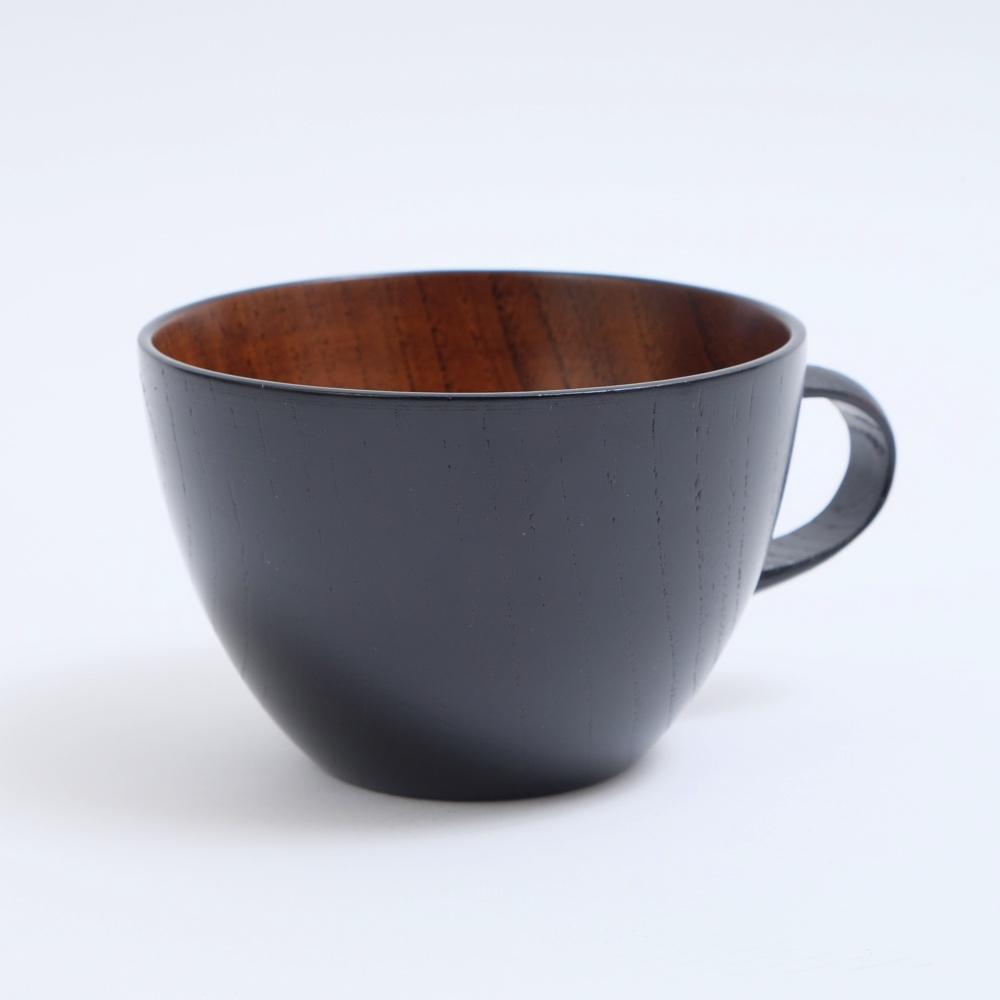 木の温もりが優しく伝わる木のスープカップ \半額 アウトレット 50%OFF 892円引き 11日1:59まで 最大500円クーポン有 天然木製 スープカップ 1着でも送料無料 漆塗り ちひろ 超美品再入荷品質至上 黒 大