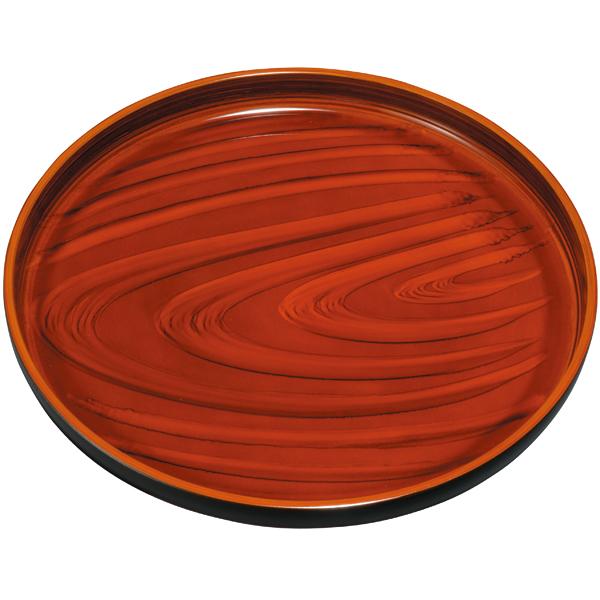紀州漆器の丁寧に塗り上げた丸盆 紀州塗り 9寸 丸盆 桂木目 美濃 国際ブランド 評価 ノンスリップ