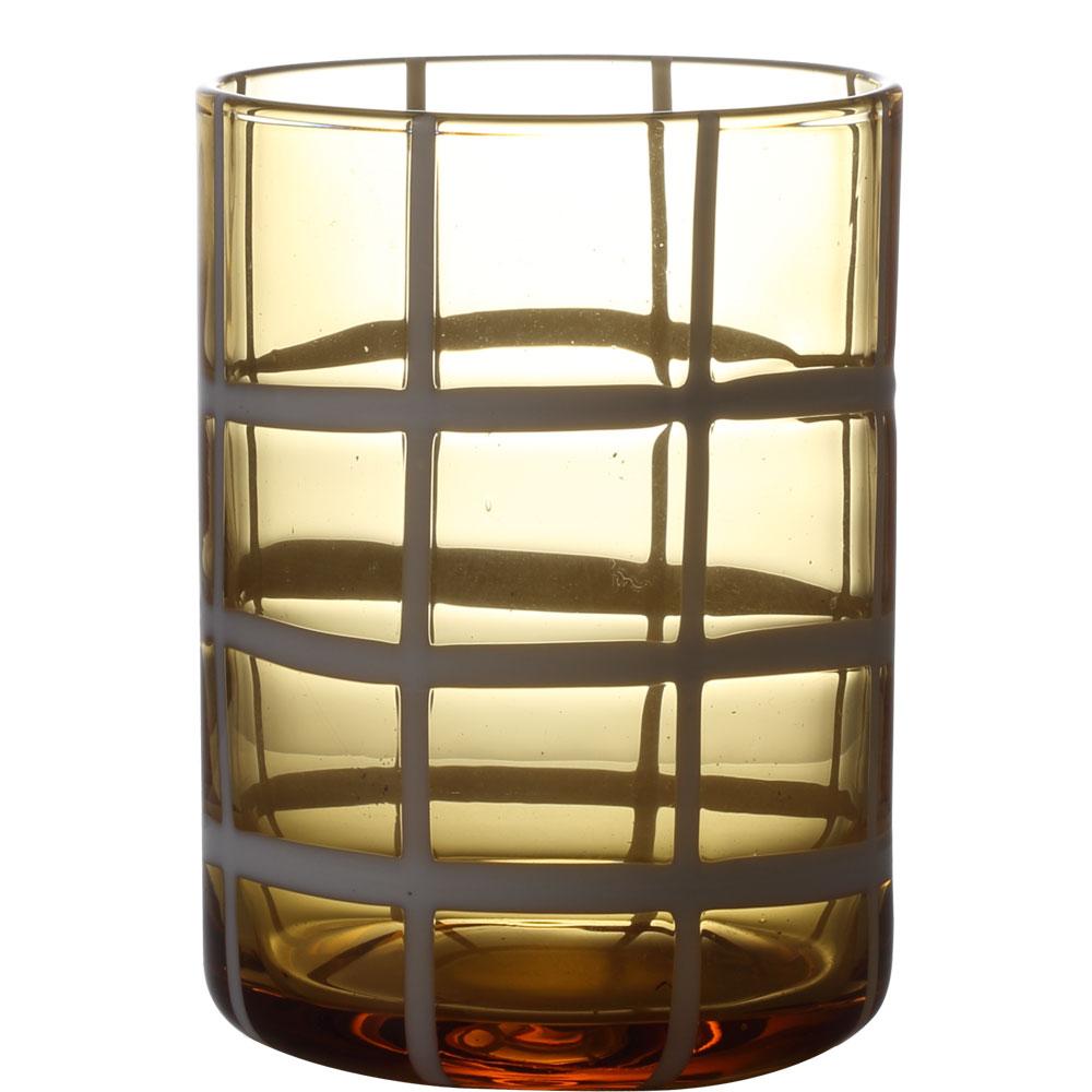 かわいいライン入りのグラス \半額 アウトレット 50%OFF 440円引き 9 4 美品 20時開始 グラス タンブラー 食洗機対応 チェック コップ 琥珀色 310ml 国際ブランド ライン ガラス おしゃれ アンバー