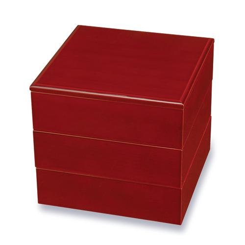 ≪送料無料≫紀州塗り 木製 6寸 三段 重箱 春慶塗