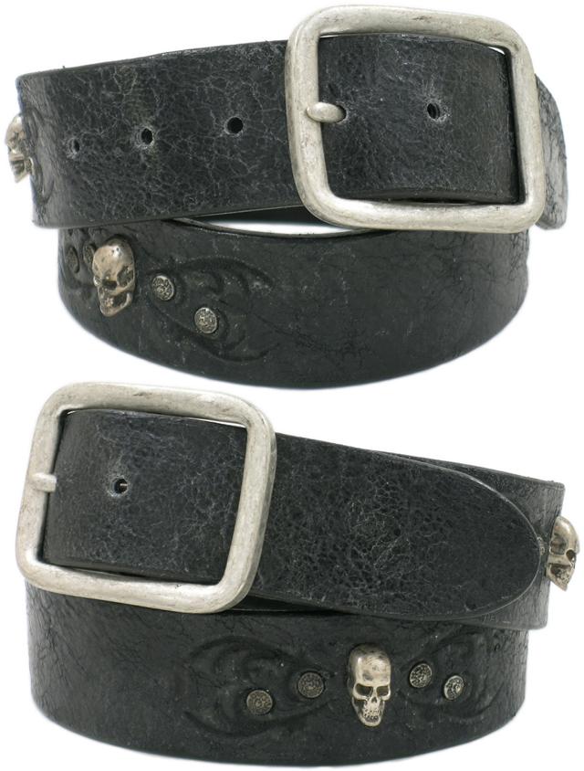 SENDRA(センドラ) MODELO:1021 Studded Belt (スカルスタッズ、ベルト) BARBADOS BLACK(バルバドス ブラック)【YDKG-tk】【toukai1】【smtb-tk】