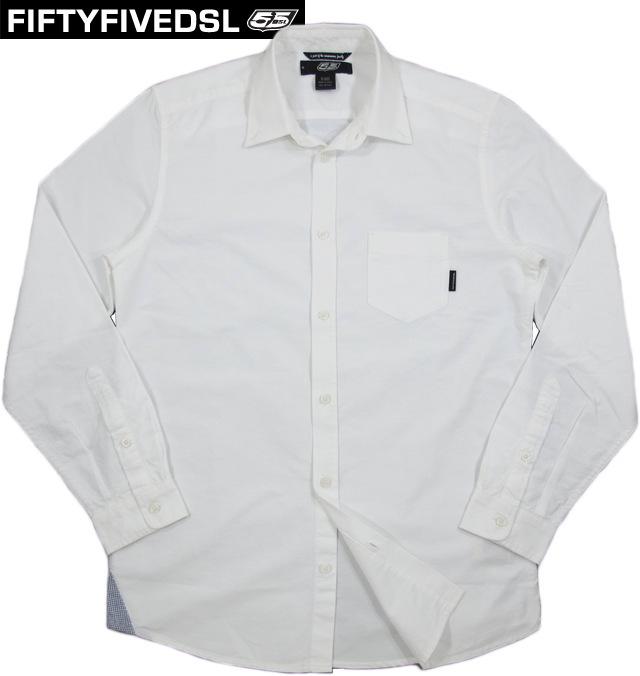 55DSL(FIFTY FIVE DSL) フィフティファイブ ディーエスエル SCASPER SHIRT(長袖 オックスフォード、ボタンダウンシャツ) WHITE(ホワイト)