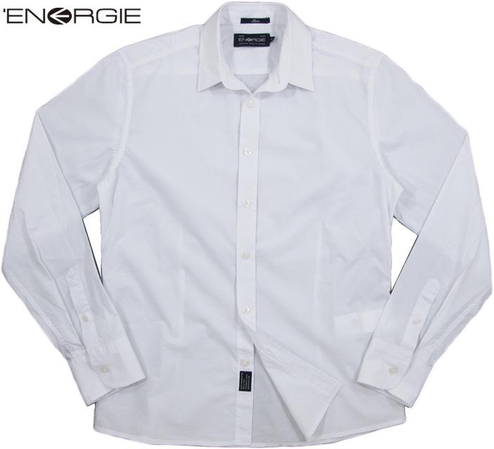 ENERGIE/エナジー PAUL SHIRT 隠しボタンダウンシャツ/白シャツ/白ドレスシャツ WHITE(ホワイト)/6B6500