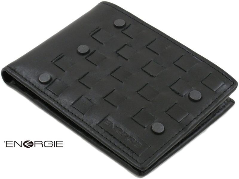 【ENERGIE エナジー】 EL1363 AVANGARDE ENERGIE(本革二つ折り財布) BLACK(ブラック)【toukai1】【smtb-tk】【YDKG-tk】