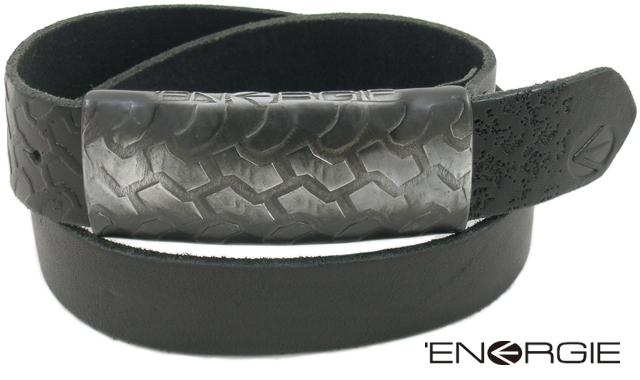 【ENERGIE エナジー】 Buckle Leather Belt (バックル付き、レザーベルト) BLACK(ブラック))【YDKG-tk】【toukai1】【smtb-tk】