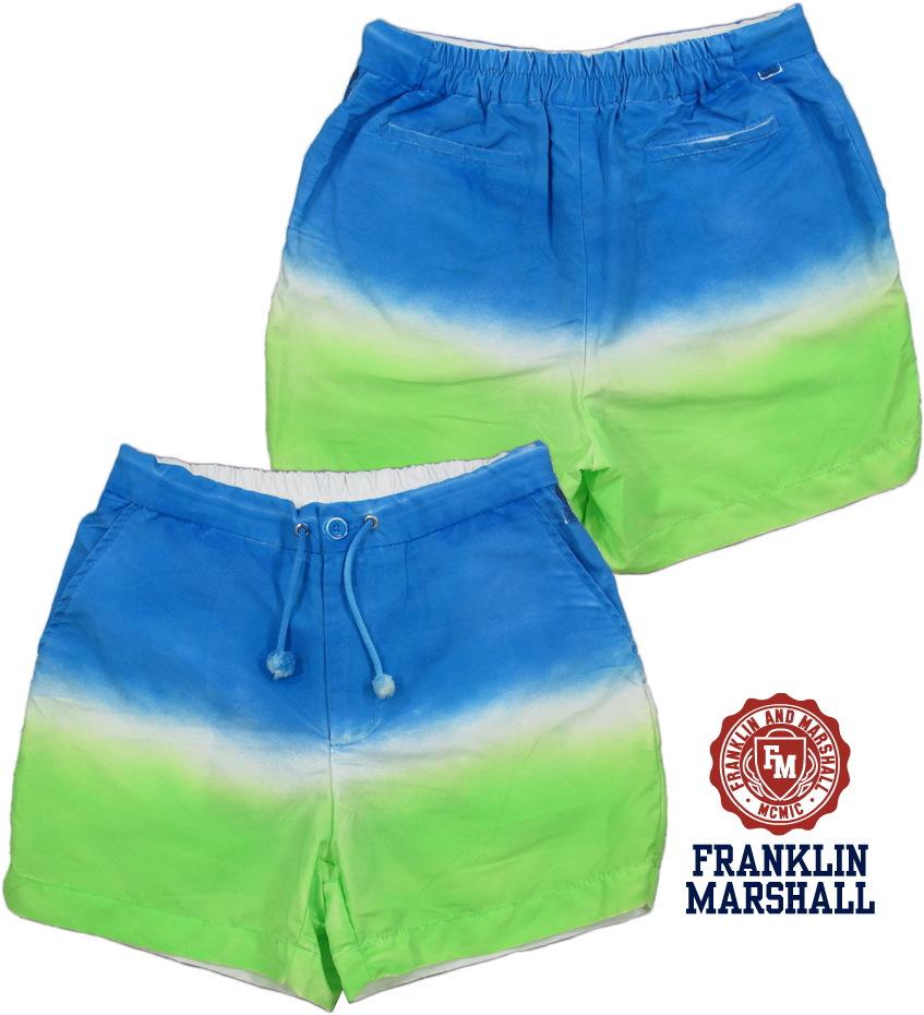 FRANKLIN&MARSHALL/フランクリンマーシャル BEACHWEAR サーフトランクス(海水パンツ) ACADEMY BLUE(アカデミーブルー)/BWUA9022S14