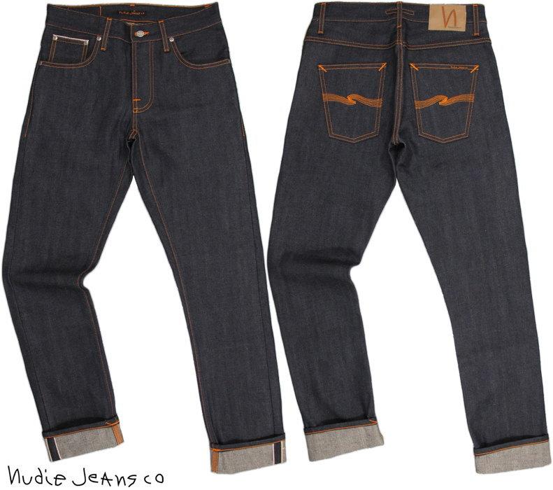 Nudie Jeans co/ヌーディージーンズ GRIM TIM(グリムティム) straight slim fit with normal rise DRY SELVAGE(ドライ セルヴィッチ/未洗いリジット)