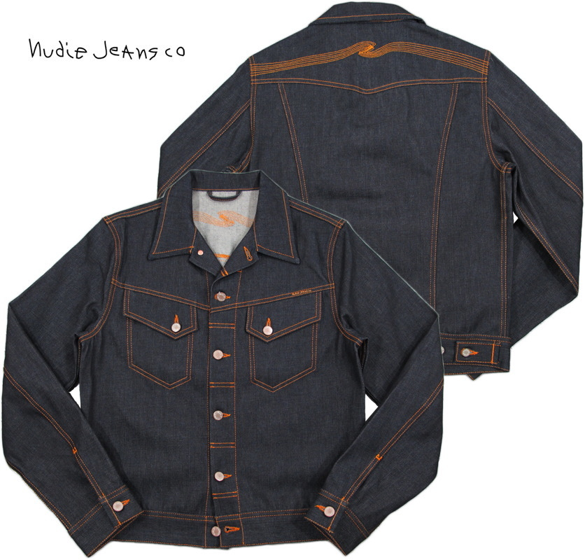 Nudie Jeans co(牛羚D牛仔褲)CONNY(兔皮)DRY VARIANT(理智的變形)未洗加工G約翰,粗斜紋布茄克