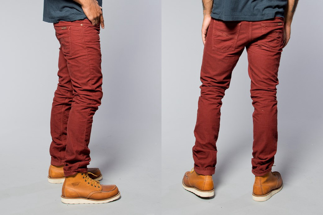 Nudie Jeans co/牛羚D牛仔褲GRIM TIM(格林蒂姆)straight slim fit with normal rise ORG. RED CORD(oganikkureddokodeyuroi)