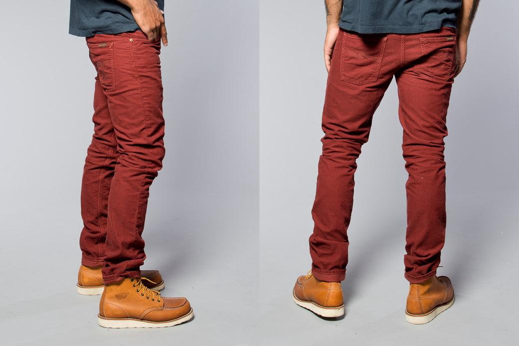 牛羚 d 牛仔裤 co / 牛羚 d 牛仔裤蒂姆 · 格林 (严峻时间) 直苗条符合正常上升组织红线 (有机红色灯芯绒)
