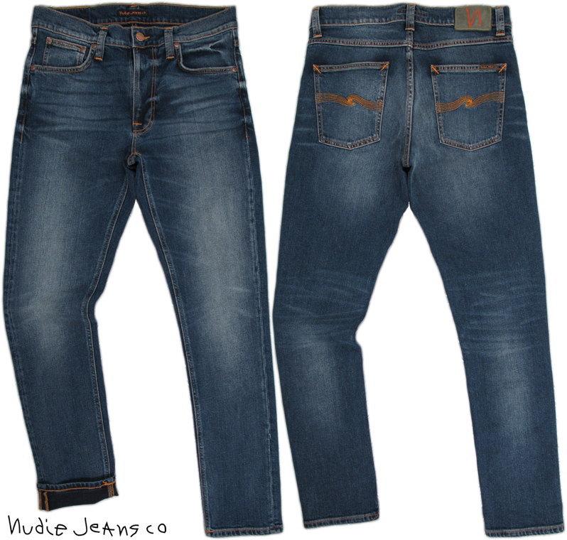 Nudie Jeans co/ヌーディージーンズ LEAN DEAN/リーンディーン DEEP DARK INDIGO(ディープダークインディゴ) 12 oz. comfort stretch denimストレッチ・スキニーデニムパンツ