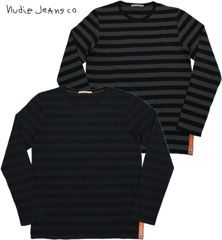 Nudie Jeans co/ヌーディージーンズ ORVAR BLOCK STRIPE長袖ボーダーTシャツ/ボーダーカットソー