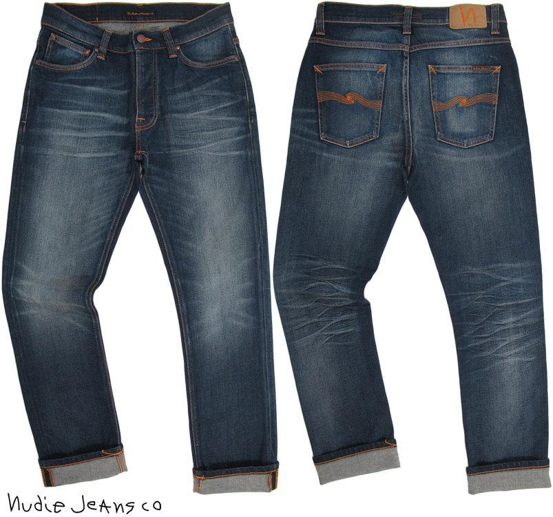 Nudie Jeans co/ヌーディージーンズ DUDE DAN/デュードダン BRUISED BLUE(ブルースドブルー) ストレッチ・レギュラーフィットジーンズ