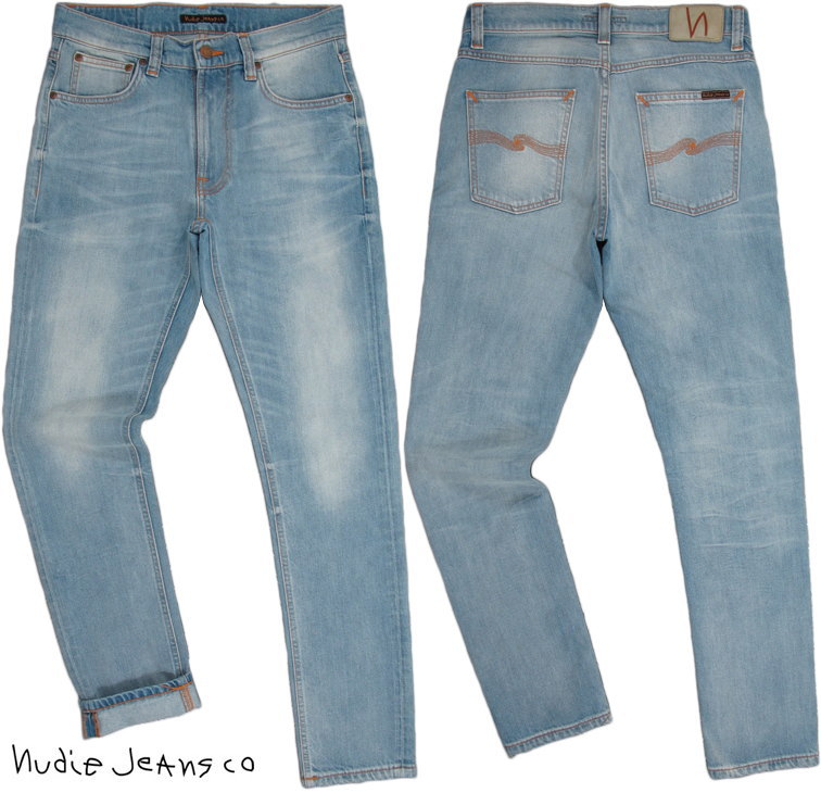 Nudie Jeans co/ヌーディージーンズ LEAN DEAN/リーンディーン CLASSIC USED(クラシックユーズド) 12oz. comfort stretch denimストレッチ・スキニーデニムパンツ
