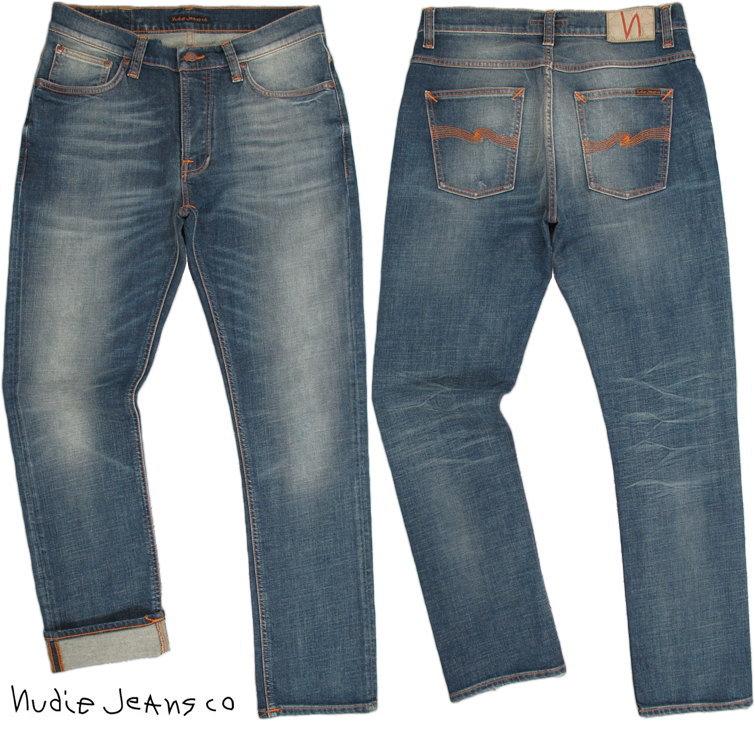 Nudie Jeans co/ヌーディージーンズ DUDE DAN/デュードダン WORN WELL COMF(ウォーンウェルコンフ) 12.5oz. comfort stretch denimストレッチ・レギュラーフィットジーンズ