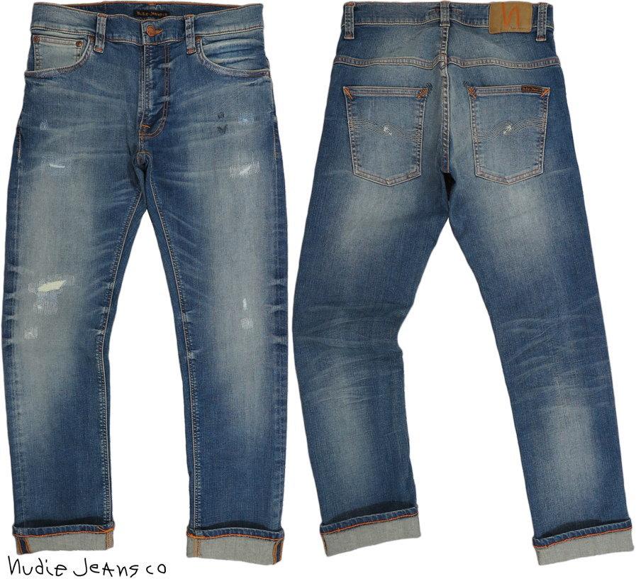 Nudie Jeans co/ヌーディージーンズTHIN FINN/シンフィン AUTHENTIC REPAIR(オーセンティック・リペア) 11オンスコンフォートストレッチデニム/スキニージーンズ/デニムパンツ