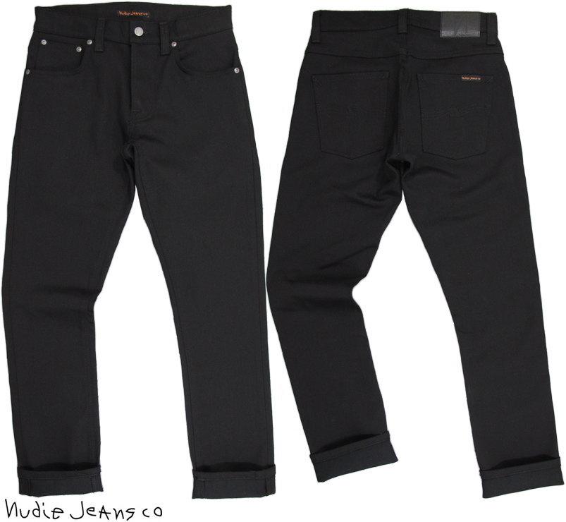 Nudie Jeans co/ヌーディージーンズ GRIM TIM(グリムティム) DRY EVER BLACK(ドライ エバー ブラック) 12oz. comfort stretch denimストレッチ・ブラックデニム/ブラックジーンズ