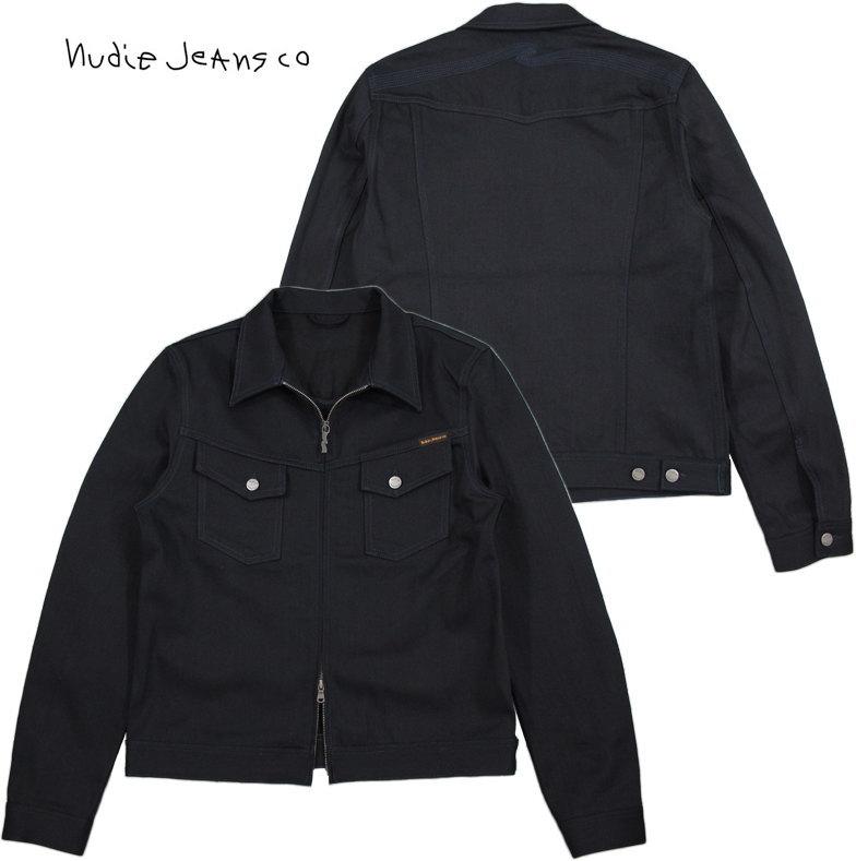 Nudie Jeans co/ヌーディージーンズ KENNY ZIP(ケニージップ) INDIGO INDIGO(インディゴ インディゴ)フロントジッパーデニムジャケット/ジージャン/Gジャン・デニジャケ