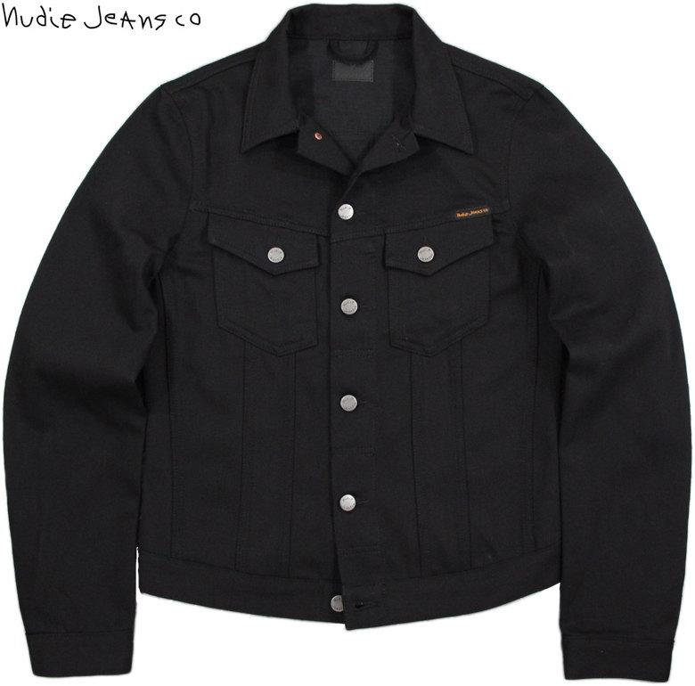 Nudie Jeans co/ヌーディージーンズ BILLY(ビリー) DRY BLACK(ドライブラック)未洗い加工 ブラックデニムジャケット/ジージャン/Gジャン・デニジャケ