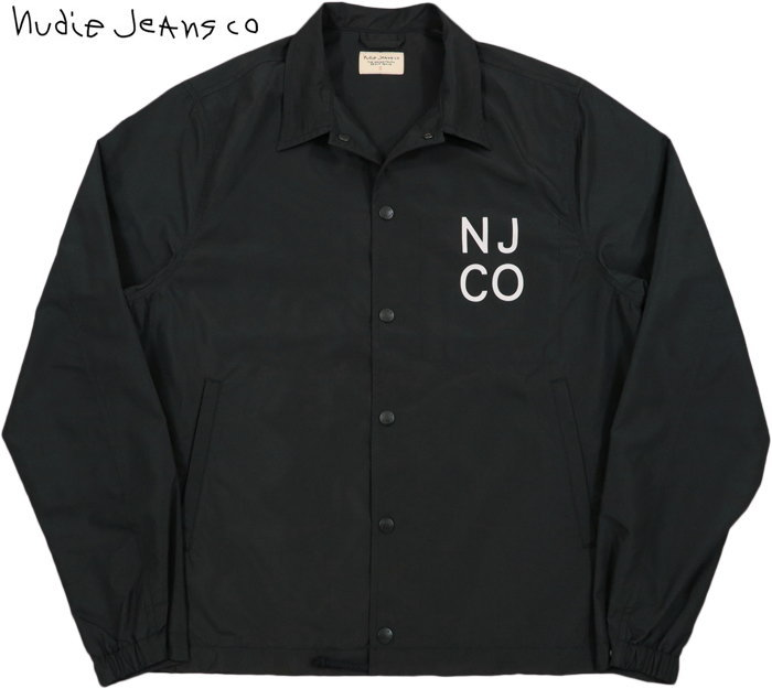Nudie Jeans co/ヌーディージーンズ JOSEF COACH JACKET コーチジャケット/ウィンドブレーカー BLACK(ブラック)
