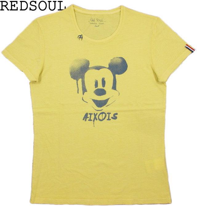 ミッキーマウスをモチーフにした★RedSoulの半袖プリントTee~。 【SALE】30%OFF★RED SOUL/レッドソウルMRDS232E EBRAHIM T-SHIRT/半袖プリントTシャツYELLOW(イエロー)