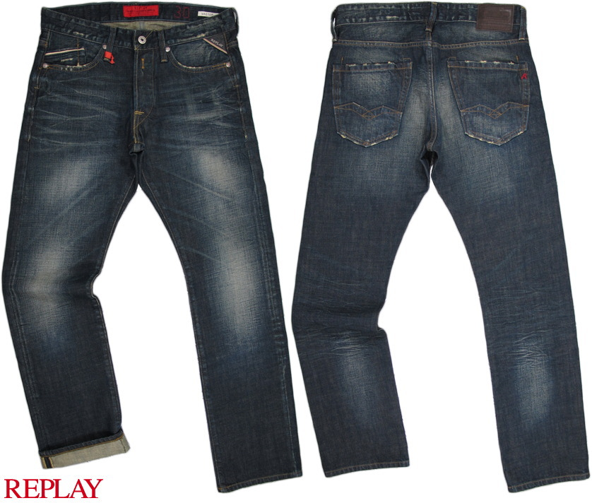 "REPLAY/リプレイ M983""WAITOM"" REGULAR SLIM FIT レギュラースリムストレート 12.5oz FLAT FINISH DENIM"