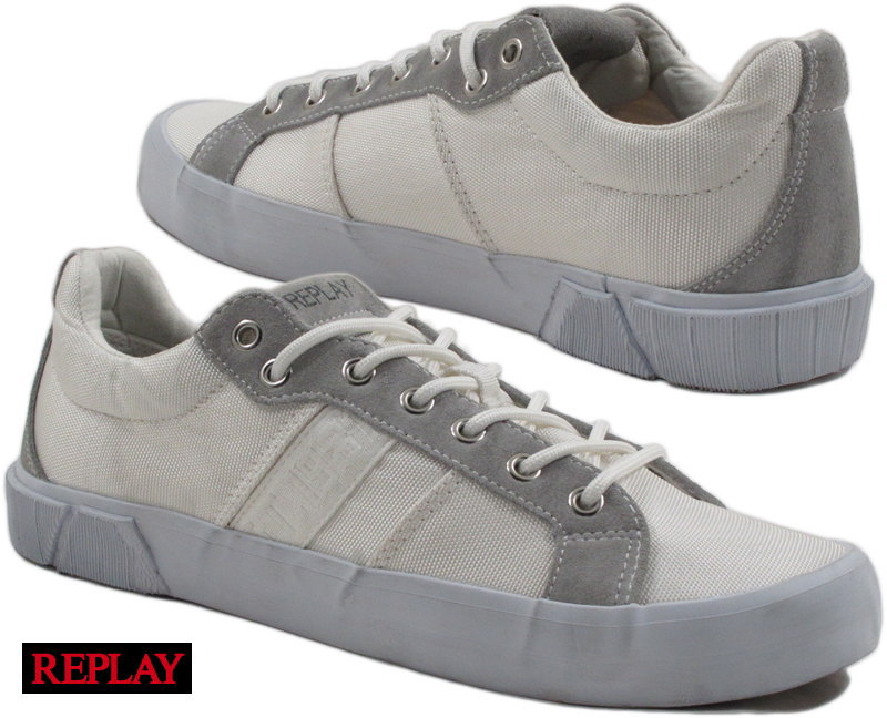 REPLAY/リプレイ MEN'S RUSH LACE UP SNEAKERS スニーカー WHITE(ホワイト)/GMV76