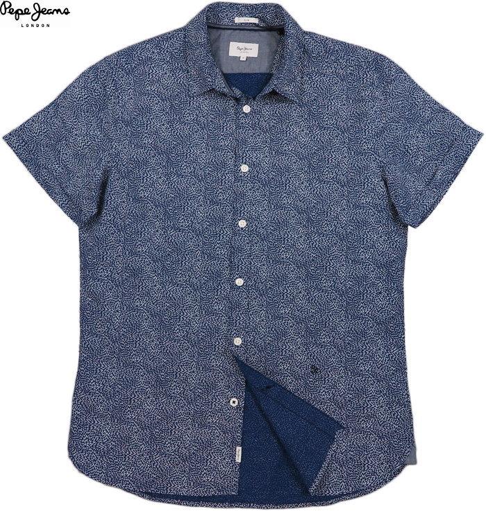 Pepe Jeans/ペペジーンズ STEVE MICRO PRINT SHIRT 半袖プリントシャツ MULTI(ネイビー)