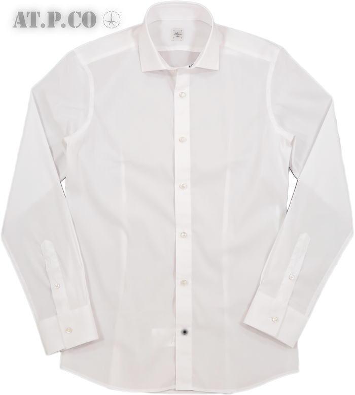 AT.P.CO/アティピコ A206ILLINOIS ストレッチ・ホリゾンタルカラーシャツ/ワイドスプレッドシャツ WHITE(ホワイト)