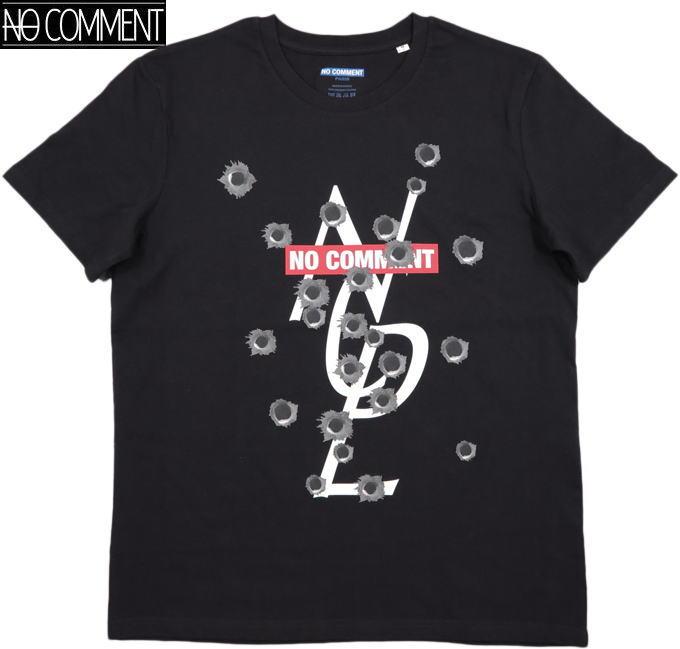NO COMMENT PARIS/ノーコメントパリ SHOPGUN NCP/T-SHIRT 半袖プリントTシャツ/カットソー BLACK(ブラック)
