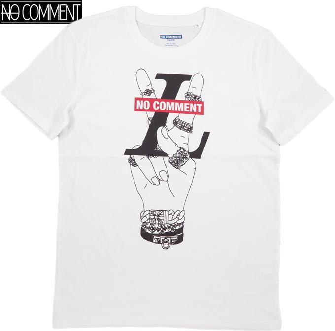 NO COMMENT PARIS/ノーコメントパリ PEACE RING/T-SHIRT 半袖プリントTシャツ/カットソー WHITE(ホワイト)