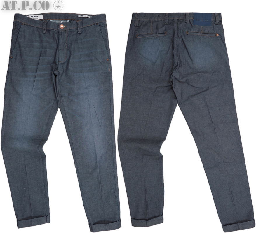 AT.P.CO/アティピコ A201SASA45 STRETCH DENIM CHINO TROUSERSストレッチ デニムトラウザー/ストレッチ デニムチノパン