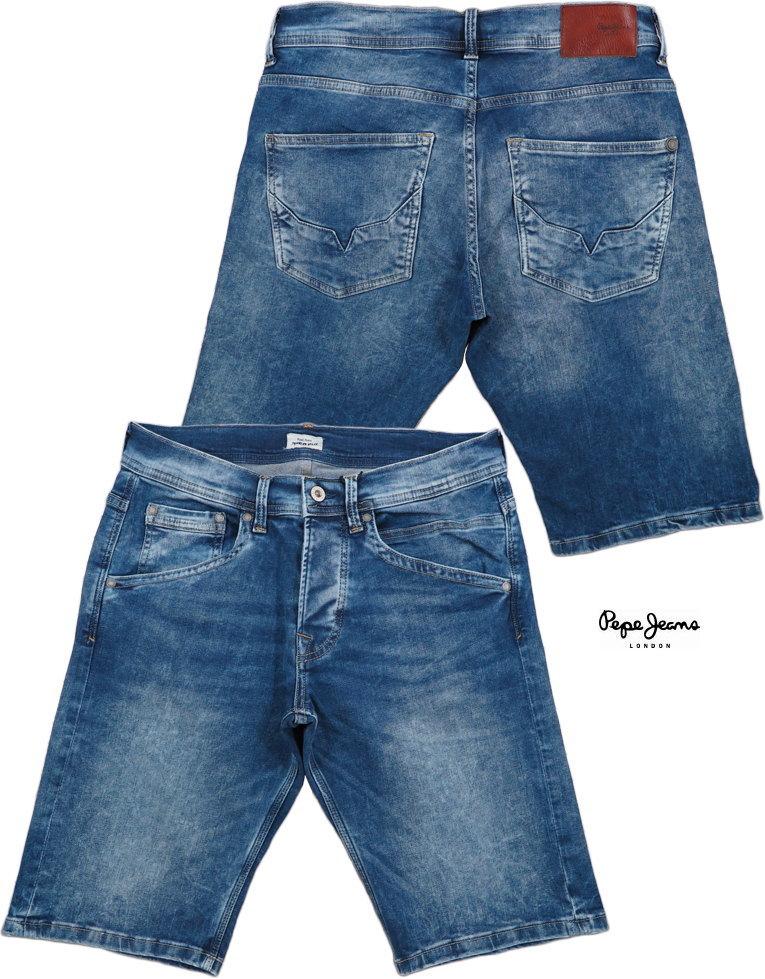 Pepe Jeans/ペペジーンズ TRACK DENIM BERMUDA SHORTS ストレッチデニムショーツ/カットオフジーンズ/デニムハーフパンツ 000 DENIM
