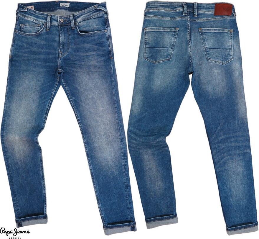 Pepe Jeans/ペペジーンズ JEANS FINSBURY SKINNY FIT LOW WAIST ストレッチスキニージーンズ 000DENIM