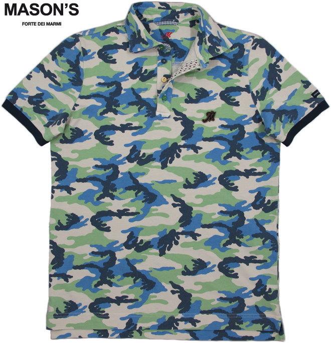 MASON'S/メイソンズ PIB15S7 POLO MASON'S UOMO STAMPA CAMOUFLAGEカモ柄 半袖ポロシャツ CAMO(カモフラージュ)/2FT2533