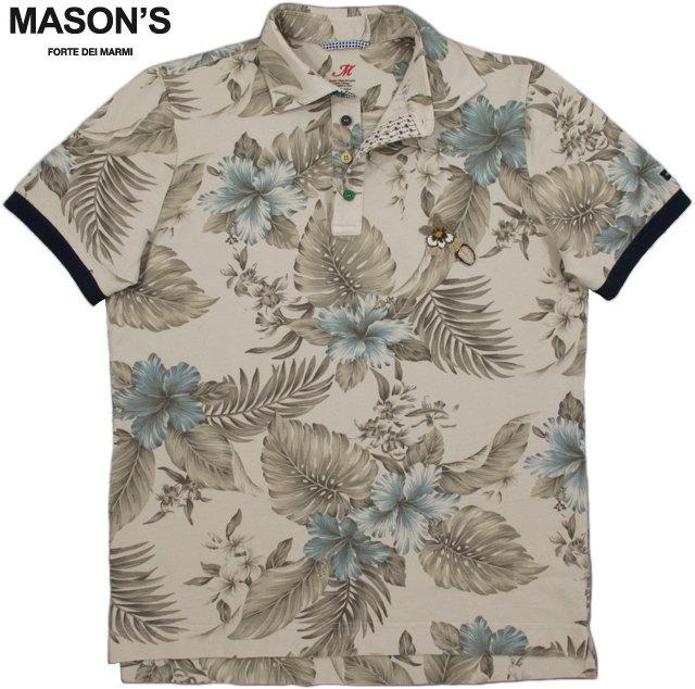 MASON'S/メイソンズ PI15S8 POLO MASON'S UOMO STAMPA FLOREALEボタニカル柄プリント 半袖ポロシャツ FLOWER(花柄)/2FT2533