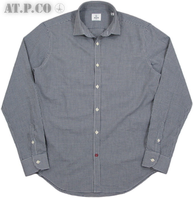 AT.P.CO/アティピコA176CARL ギンガムチェックシャツ/長袖チェックシャツ NAVY(ネイビー)