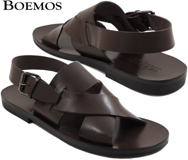 BOEMOS/ボエモス BUTTERO レザーサンダル T.MORO 238(チョコレートブラウン)