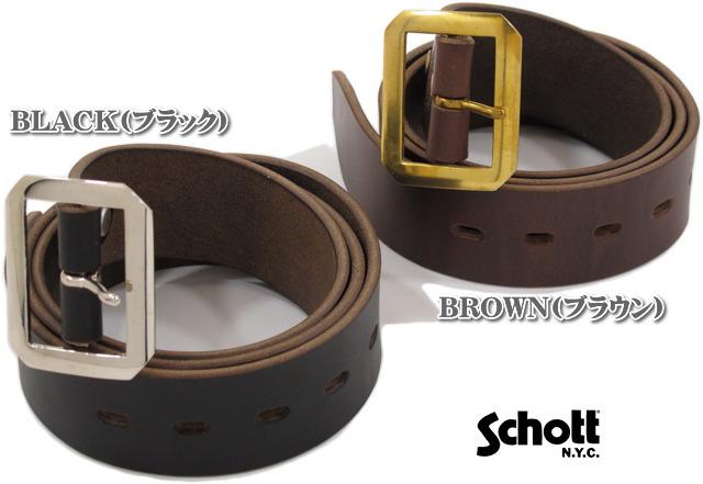 Schott/ショット PERFECTO BELT アメリカ・ホーウィン社製レザー 使用、パーフェクトレザーベルト ショット・ギャリソンベルト/Lot.3119004