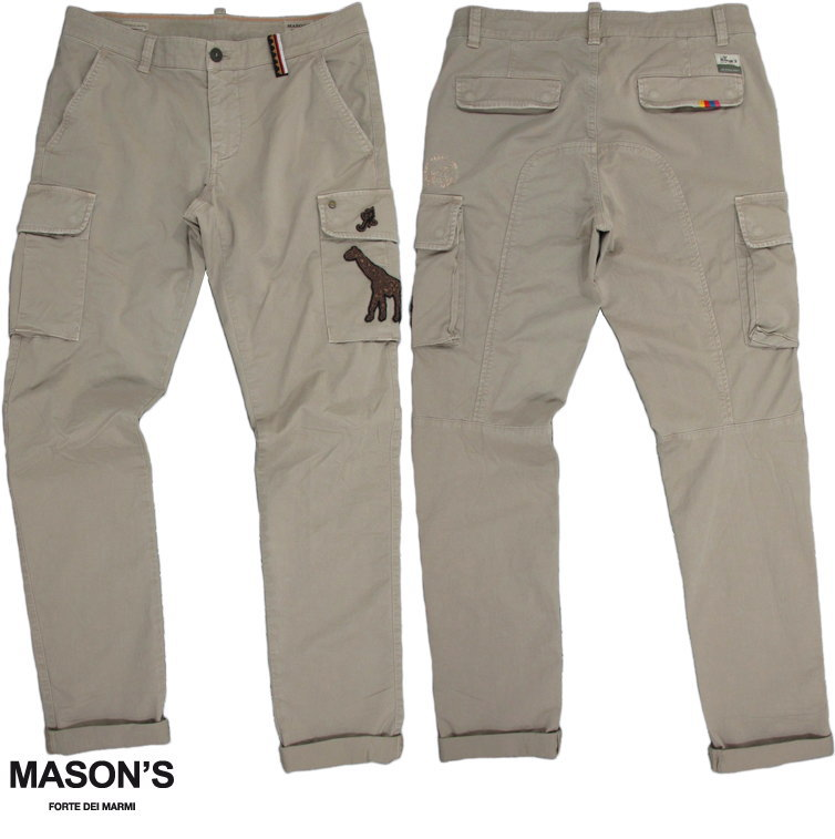 MASON'S/メイソンズ CBE109 CARGO PANTSストレッチカーゴパンツ 2PN2A2145NPA P.(CHILE1)5Y