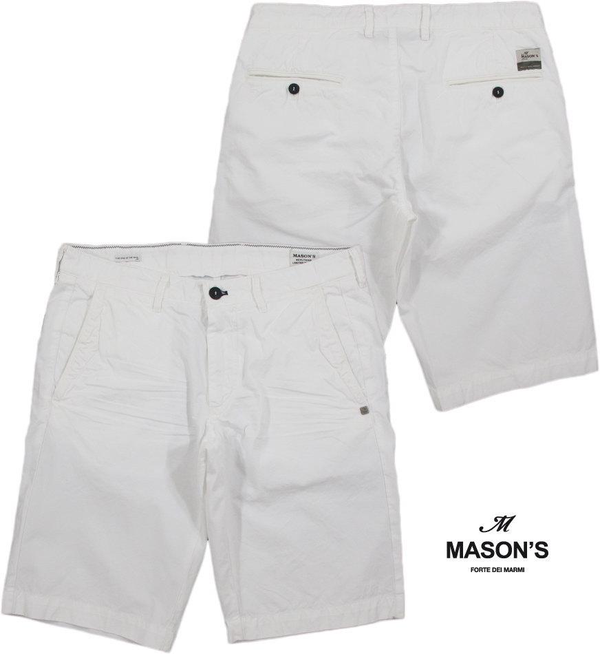 MASON'S/メイソンズ CB508 BERMUDA CHINO/ SHORTS ZIP FLYトラウザーショーツ/ショートパンツ WHITE(ホワイト) 2BE2R3215 BE(WASHINGTON)5y