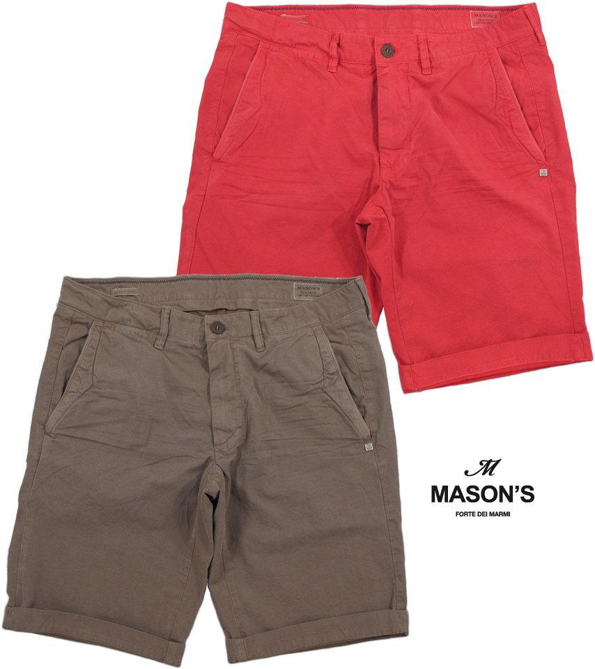 MASON'S/メイソンズ CB508 BERMUDA CHINO/ SHORTS ZIP FLYバミューダパンツ/バミューダチノ/トラウザーショーツ/ショートパンツ 2BE2R3216 BE(WASHINGTON)