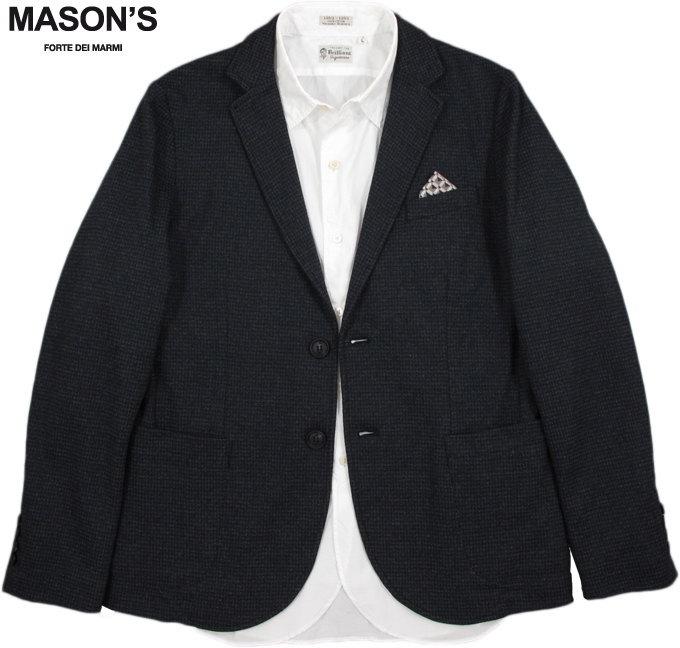 MASON'S/メイソンズ JT524 MAN BLAZER DAVINCI MICROFANCY WOOLコットン×ウール混、テーラードジャケット,ブレザーGREY×NAVY(グレー×ネイビー)/2GC2340PAT